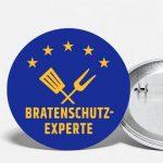 Ansteck-Button Bratenschutz-Experte