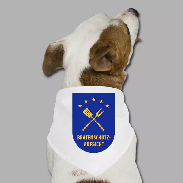 Hunde-Bandana mit Motiv Dienstabzeichen Bratenschutz-Aufsicht