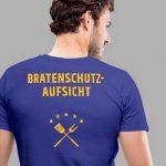 Mann Rückenansicht mit Shirt Bratenschutz-Aufsicht