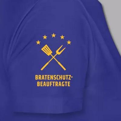 TShirt Schulteransicht, Motiv Bratenschutz-Beauftragte