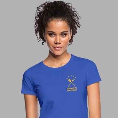 Dame trägt Shirt mit Motiv Bratenschutzbeauftragte